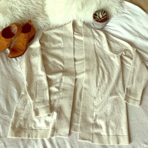 Tradition Open Front Cream Cardigan